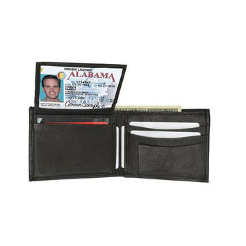 AFONiE Leather Bi-fold Wallet with Handy Removable Compartment