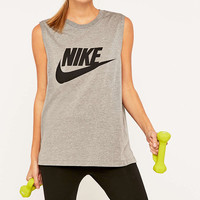 Nike Signal Grey Muscle Tank Top - Urban Outfitters