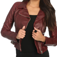 Quilted Moto Jacket | Shop Jackets at Wet Seal