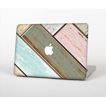The Zigzag Vintage Wood Planks Skin Set for the Apple MacBook Air 13""