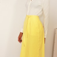 70s Lemon Wrap Skirt