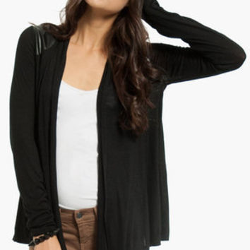 On My Shoulders Contrast Cardigan $37