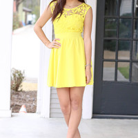 Oh My Darling Dress - Yellow