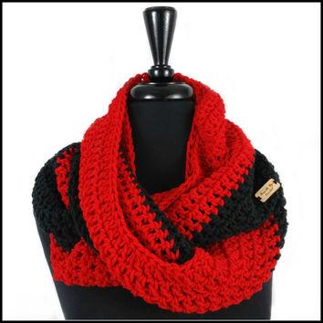 Red & Black Infinity Scarf