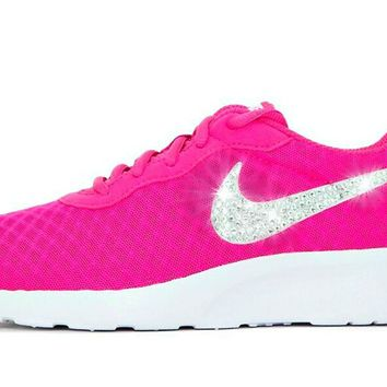 Women's Nike? Tanjun SE Womens Running Shoes in Pink/White w/SWAROVSKI? Crystal detail