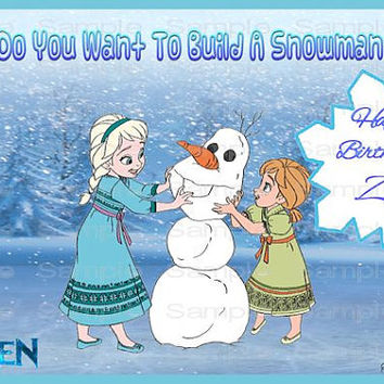 Personalized Edible Frosting Icing Fondant Sheet Do You Want To Build A Snowman FROZEN ANNA ELSA Personalized Photo Picture Custom Fresh