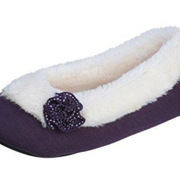 Joan Vass Womens Chic Comfy and Cozy Ballet Slipper