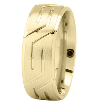 Wedding Band - Yellow Gold Superman Wedding Ring