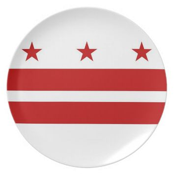 Washington DC Flag Plate