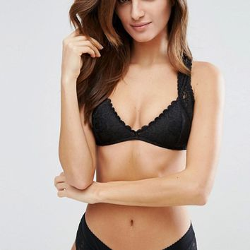Free People The Upside Down Cross Back Bra at asos.com