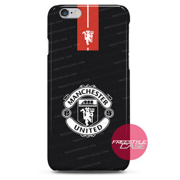 Manchester United Fc Logo Black iPhone Case 3, 4, 5, 6 Cover