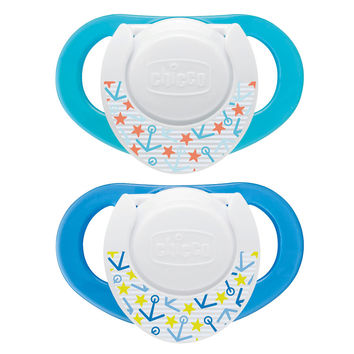 Chicco Deco Shield 4+ Month Pacifier 2 Pack - Blue