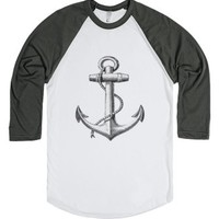 Anchor.-Unisex White/Asphalt T-Shirt