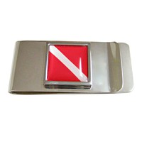 Scuba Diving Flag Money Clip
