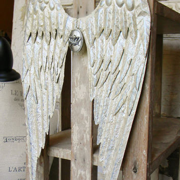 Metal Wall Decor, Angel Wing Wall Decor, Angel Wing Wall Hanging, Bedroom Wall Decor, Spiritual Wall Decor, Angel Wings, Angel Home Decor
