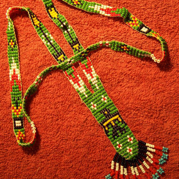 Vintage First Nations Loom Seed Bead by MargsMostlyVintage on Etsy