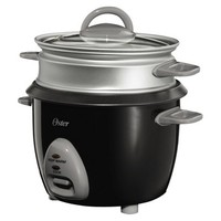 Oster 6 Cup Rice Cooker and Steamer - Black