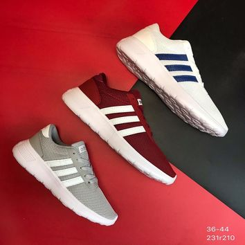 """""""Adidas NEO""""Classic Nuby Leather Mesh Stitching Lightweight Comfortable Running Shoes"""