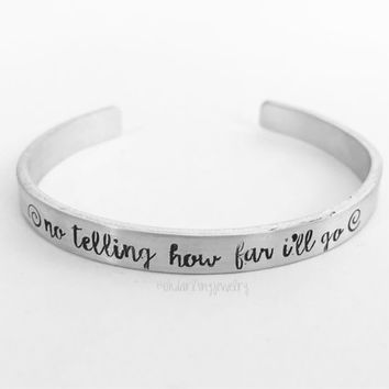 No Telling How Far I'll Go Bangle. Moana Cuff