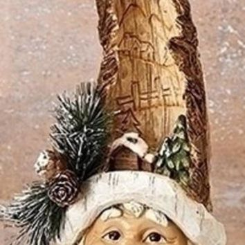 Roman Santa Head with Carved Cabin Scene-30320-B