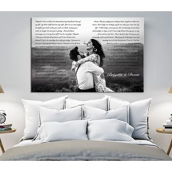 Lyrics Canvas Personalized Wall Art with Your Vows Song Or Verse