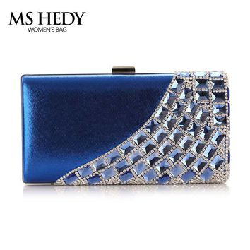 luxury crystal rhinestones shoulder bag female eveing bag bridal wedding purse party hand bag single side diamonds dinner wallet