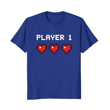 Player 1 Shirt- Vintage Video Game One Classic Pixel Gift