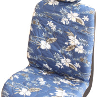 Navy Orchid Hawaiian Separate Headrest Car Seat Cover