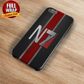 N7 Mass Effect Logo 2 Full Wrap Phone Case For iPhone, iPod, Samsung, Sony, HTC, Nexus, LG, and Blackberry