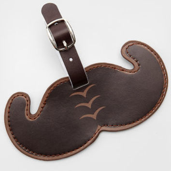 Mustache Luggage Tag