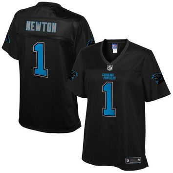 Women's Carolina Panthers Cam Newton NFL Pro Line Black Reverse Fashion Jersey