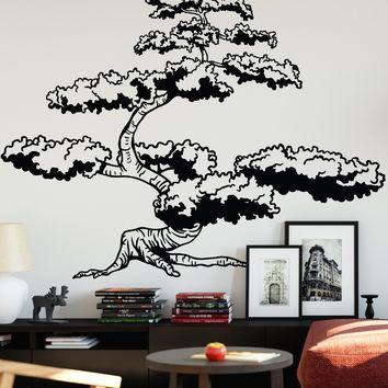 Japanese Bonsai Tree Wall Decal Sticker for your Asian Theme Room. #344