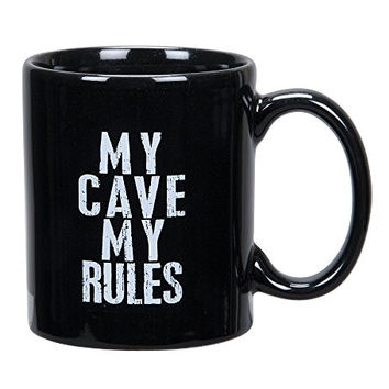 My Cave, My Rules - Black Coffee / Tea Mug