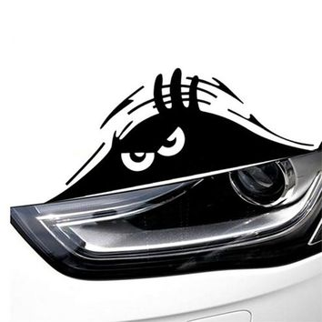 Free Shipping Funny Peeking Monster Auto Car Walls Windows Sticker Graphic Vinyl Car Decal Hot Sale wrap
