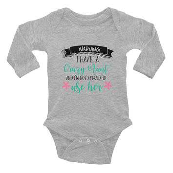 Crazy Aunt Infant long sleeve one-piece