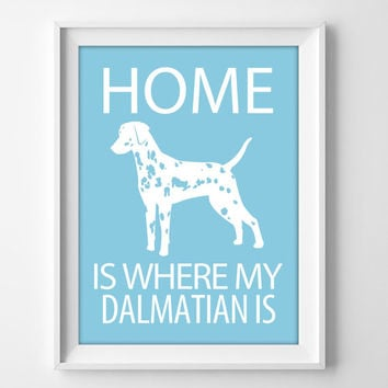 "8x10"" Dalmatian Wall Art, Illustrated Dog Art, Dalmatian Decor, Dog Breed Wall Art, Puppy Print, Dalmatian Gift, Dalmation Print, Dalmation"