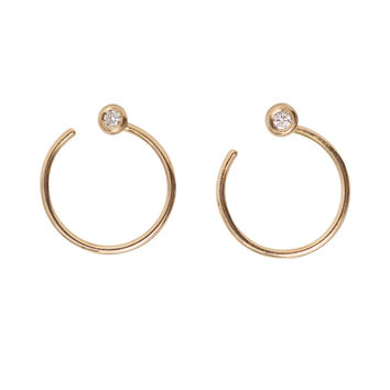 Diamond Ear Nut Earring, Gold, Single - Catbird