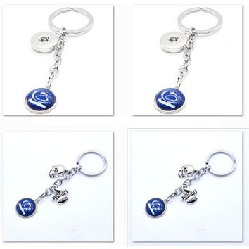 2017 New Football Keychain NCAA Penn Lions Charm Key Chain Car Keyring for Women Men Party Birthday Keyrings Gifts