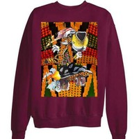 DCKL9 JORDAN 7 VII RETRO Bordeaux Cat sweatshirt