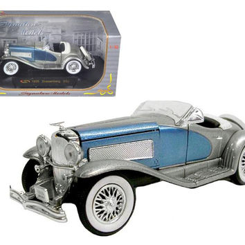 1935 Duesenberg SSJ Blue-Silver 1-32 Diecast Model Car by Signature Models