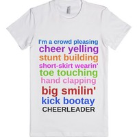 Cheerleader-Female White T-Shirt
