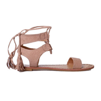 Blush Ankle Strap Sandals