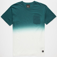 Imperial Motion Dip Dye Mens Pocket Tee Aqua  In Sizes