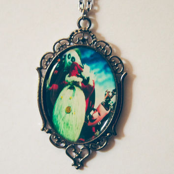jack skellington santa claus nightmare before halloween necklace jack and sally the pumpkin king scary creepy oddity weird christmas