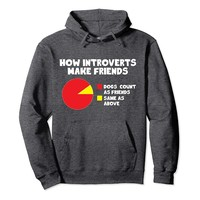 How Introverts Make Friends Funny Dog Hoodie