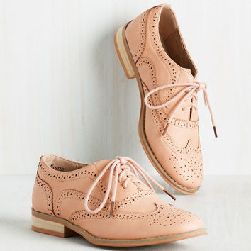 Talking Picture Flat in Blush | Mod Retro Vintage Flats | ModCloth.com