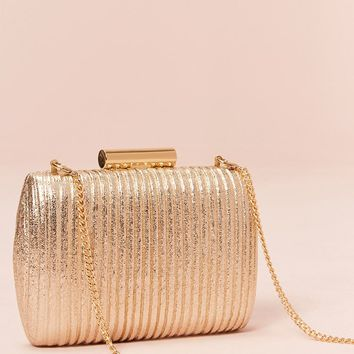 Ribbed Metallic Clutch