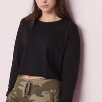Cropped Long Sleeve Tee