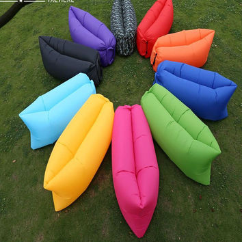 Inflatable  Hiking Lounger Hangout Air Sleep Camping Bed Beach Sofa