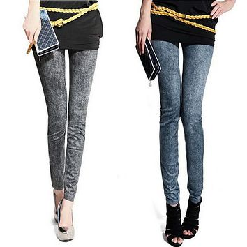 2016 Hot Stylish Sexy Women Denim Jeans Skinny Jeggings Tights Stretch Pants Trousers L34